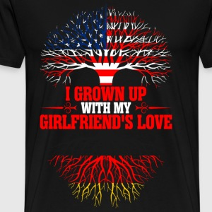 American Grown Up With My German Girlfriends Love T-Shirts - Men's Premium T-Shirt