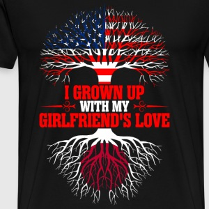 American Grown Up With My Japanese Girlfriends T-Shirts - Men's Premium T-Shirt