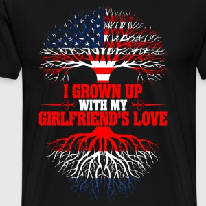 American Grown Up With My Netherland Girlfriends T-Shirts - Men's Premium T-Shirt