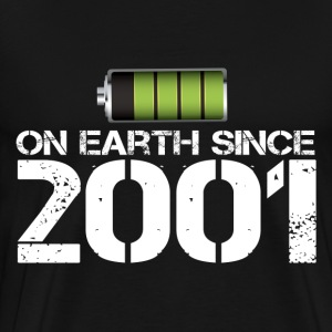 on earth since 2001 - Men's Premium T-Shirt