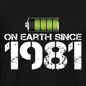 on earth since 1981 - Men's Premium T-Shirt