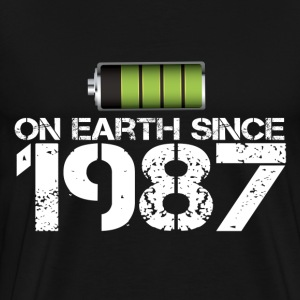 on earth since 1987 - Men's Premium T-Shirt