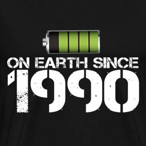on earth since 1990 - Men's Premium T-Shirt