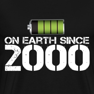 on earth since 2000 - Men's Premium T-Shirt