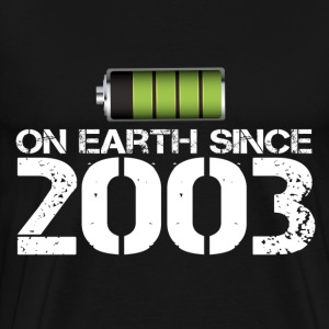 on earth since 2003 - Men's Premium T-Shirt