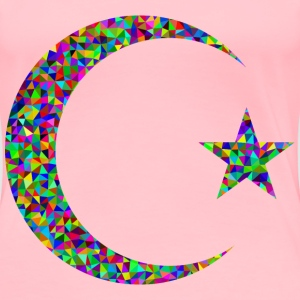 Prismatic Low Poly Crescent And Star - Women's Premium T-Shirt