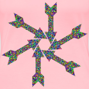 Prismatic Low Poly Arrow Art 2 - Women's Premium T-Shirt
