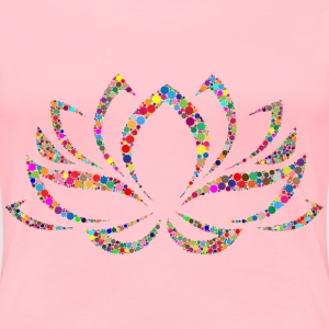 Colorful Lotus Flower Circles - Women's Premium T-Shirt