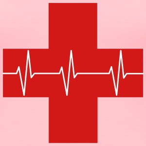 Red Cross First Aid Icon Optimized - Women's Premium T-Shirt