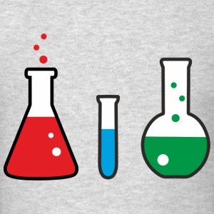 Laboratory flasks, science, chemistry T-Shirts - Men's T-Shirt