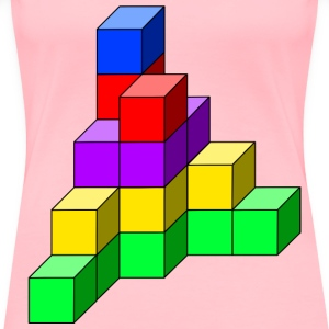 cube tower 11 - Women's Premium T-Shirt