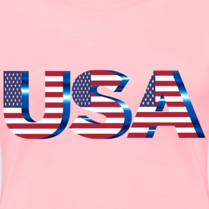 USA Flag Typography No Filters No Background - Women's Premium T-Shirt