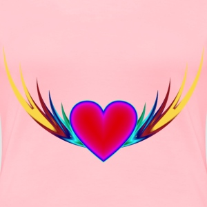 Flying Heart 3 - Women's Premium T-Shirt