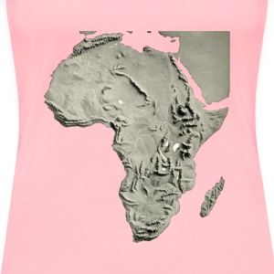 Africa relief map 2 - Women's Premium T-Shirt