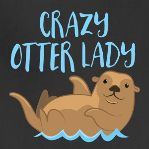 crazy otter lady Aprons - Adjustable Apron