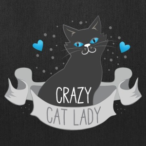 crazy cat lady banner Bags & backpacks - Tote Bag
