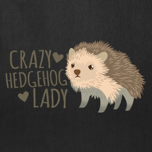 crazy hedgehog lady Bags & backpacks - Tote Bag