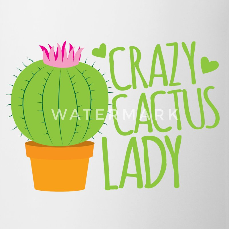 Crazy cactus lady  Mugs & Drinkware - Coffee/Tea Mug