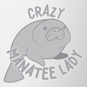 crazy manatee lady Mugs & Drinkware - Coffee/Tea Mug