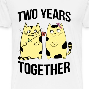 two years together - Men's Premium T-Shirt