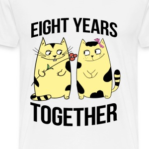 eight years together - Men's Premium T-Shirt