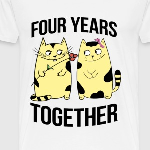 four years together - Men's Premium T-Shirt
