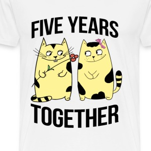 five years together - Men's Premium T-Shirt
