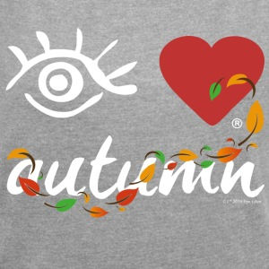Eye-Love autumn - Women´s Rolled Sleeve Boxy T-Shirt