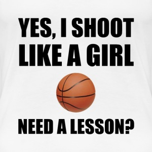 Like A Girl Basketball - Women's Premium T-Shirt