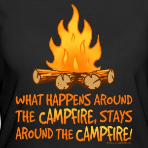 What Happens Around the Campfire - Women's 50/50 T-Shirt