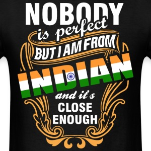 Nobody is Perfect But I am From Indian and Its Clo - Men's T-Shirt