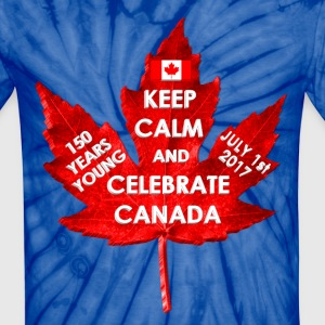 KEEP CALM 150 YEARS CANADA 3D - Unisex Tie Dye T-Shirt