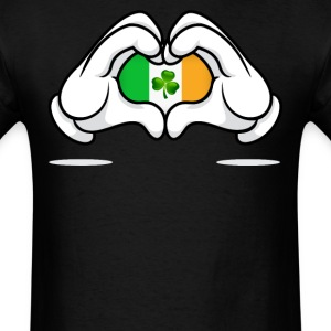 Mickey mouse hands irish flag  - Men's T-Shirt