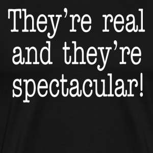 They're Real And They're Spectacular - Seinfeld T-Shirts - Men's Premium T-Shirt