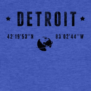 Detroit T-Shirts - Fitted Cotton/Poly T-Shirt by Next Level