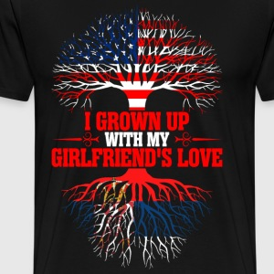 American Grown Up With My Serbian Girlfriends Love T-Shirts - Men's Premium T-Shirt