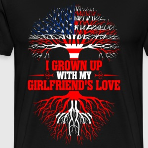 American Grown Up With My Swiss Girlfriends Love T-Shirts - Men's Premium T-Shirt