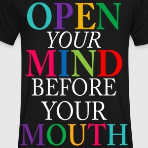 open your mind  - Men's V-Neck T-Shirt by Canvas