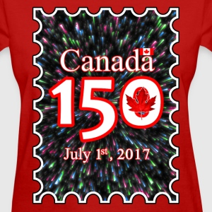 CANADA 150 POSTAGE STAMP LEAF FIREWORKS - Women's T-Shirt