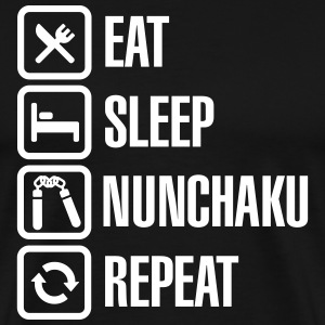 Eat Sleep Nunchaku Repeat T-Shirts - Men's Premium T-Shirt
