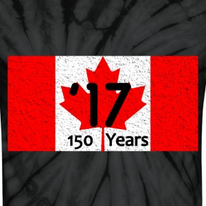 CANADA FLAG 150 YEARS '17 - Unisex Tie Dye T-Shirt