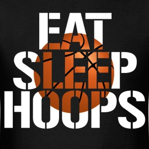Eat Sleep Hoops basketball shirt - Men's T-Shirt