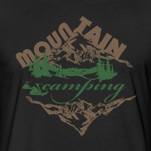 Camping in Mountain - Fitted Cotton/Poly T-Shirt by Next Level