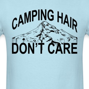 camping_hair_dont_care_ - Men's T-Shirt