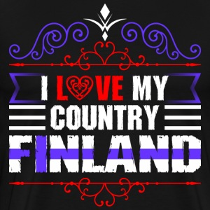 I Love My Country Finland T-Shirts - Men's Premium T-Shirt