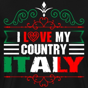 I Love My Country Italy T-Shirts - Men's Premium T-Shirt