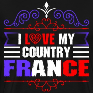 I Love My Country France T-Shirts - Men's Premium T-Shirt