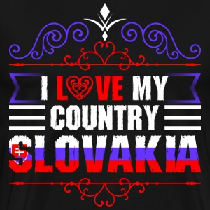 I Love My Country Slovakia T-Shirts - Men's Premium T-Shirt