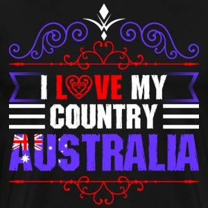 I Love My Country Australia T-Shirts - Men's Premium T-Shirt