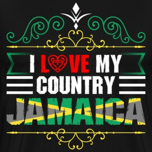 I Love My Country Jamaica T-Shirts - Men's Premium T-Shirt